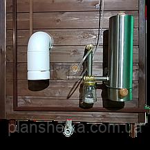 Коптильня 1300л холодного и горячего копчения + просушка (Нержавейка внутри, крыша домиком), фото 3