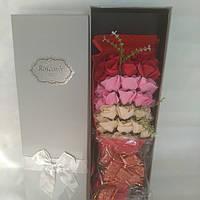 Подарочный букет на 33 розы  из мыла ручной работы для любимых женщин, фото 1