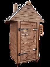 Електростатична Коптильня 1300л холодного та гарячого копчення + просушування (Вільха всередині, дах будиночком), фото 3
