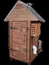 Електростатична Коптильня 1300л холодного та гарячого копчення + просушування (Вільха всередині, дах будиночком), фото 2