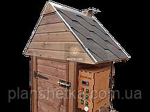 Электростатическая Коптильня 1300л холодного и горячего копчения + просушка (Ольха внутри, крыша домиком), фото 3