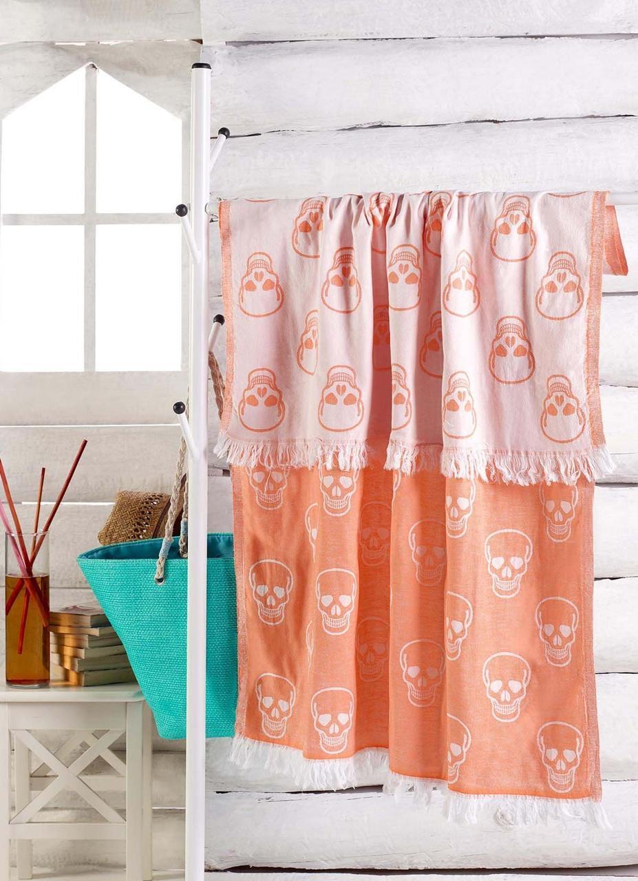 Полотенце-пештемаль пляжное KuruKafa 100х180 оранжевый Eponj Home