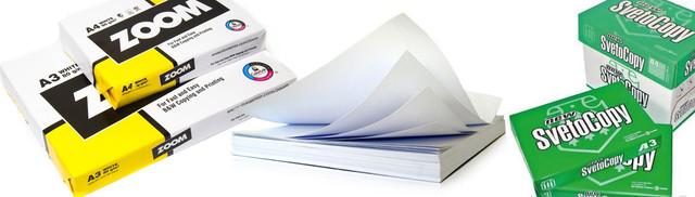офисная бумага формата А4, А3, плотностью 80г/м2, повышенной белизны для ризографии