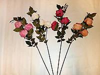 Искусственные цветы Ветка Роза шебби-шик (90 см) - 5 шт
