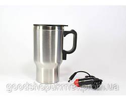 Дорожная термокружка с подогревом CUP 2240, автомобильная термокружка 450 мл
