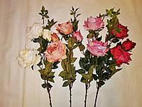 Искусственные цветы Ветка Роза шебби-шик (105 см) - 5 шт