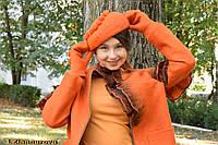 Берет и рукавицы ,  войлочный комплект аксессуаров