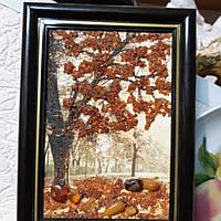Картина с янтаря Осень