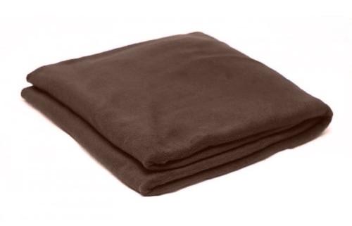 Плед шоколадний  флісовий 145х200 см