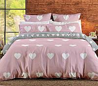 """Двуспальный постельный  комплект  ТЕП™ """"Pink Love Hearts""""  Ранфорс"""