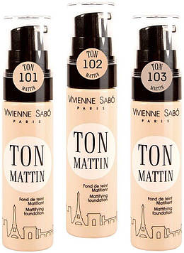 Vivienne Sabo Матирующий тональный крем Mattifying foundation Ton Mattin 25мл