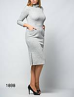 c655168cdb1 Женское платье с карманами рукавом три четверти до колена от бренда Adele  Leroy