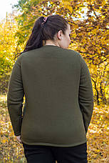 Теплый спортивный костюм большого размера Карамель хаки 48-82 размер, фото 3
