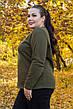 Теплый спортивный костюм большого размера Карамель хаки 48-82 размер, фото 4