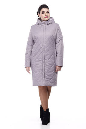 Женское синее пальто демисезонное теплое разные цвета размер 48-60, фото 2