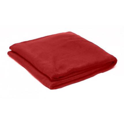 Плед бордовий  флісовий 145х200 см, фото 2