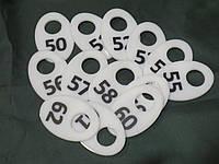 Номерки для гардероба белые, фото 1