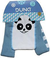 Колготы махровые голубые детские, панда, рост 68-74 см, Дюна