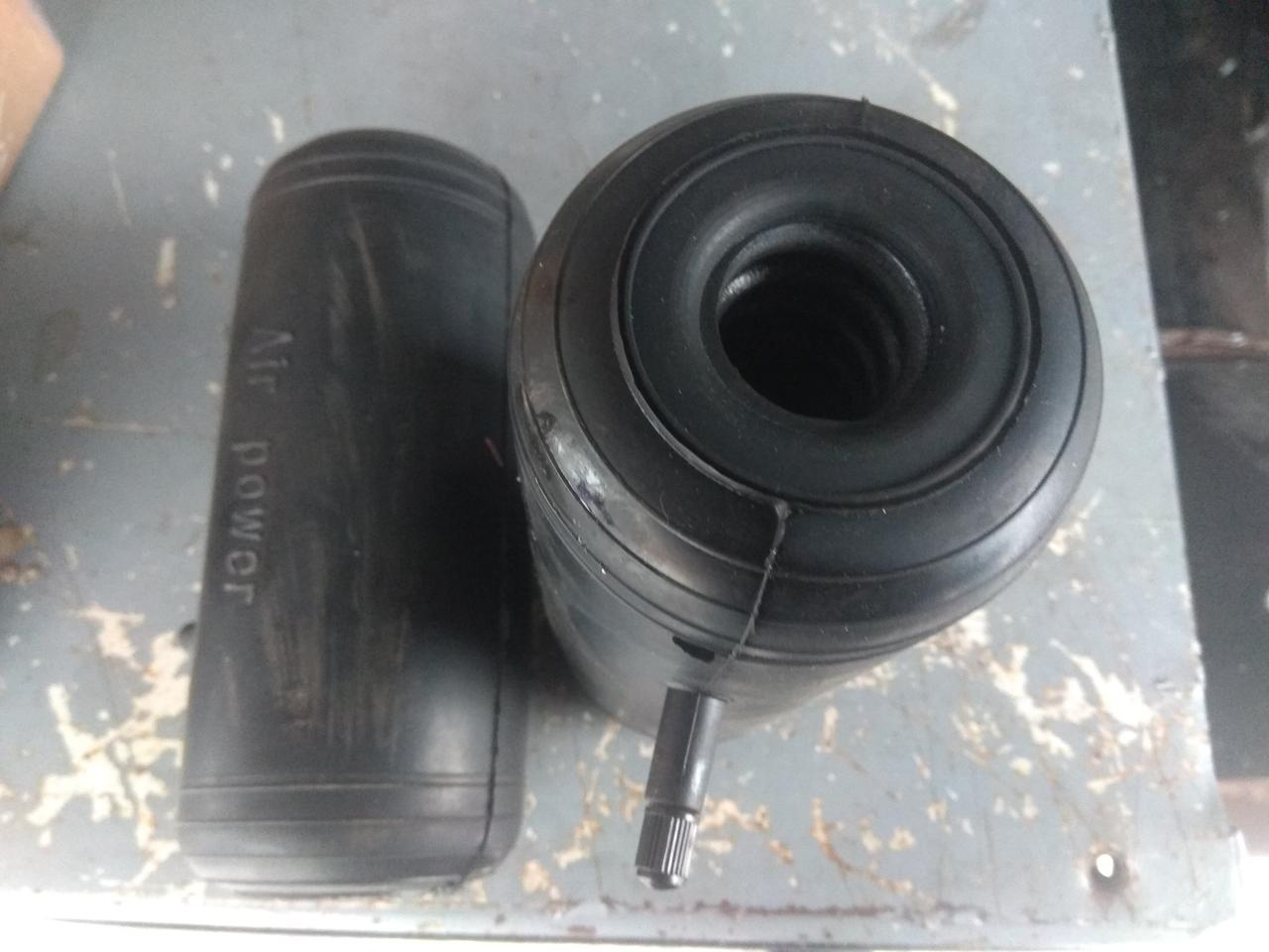 Пневмоподушки в пружину с отверстием под амортизатор (стойку) сквозные 200х85х20