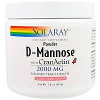 D-манноза с клюквой, вкус лимона и ягод , 2000 мг (216 г) Solaray
