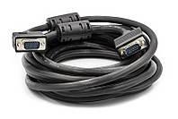 Відео кабель PowerPlant VGA-VGA, 5м, Double ferrites