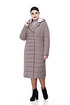 Размеры от 48 до 60 теплое демисезонное пальто разные цвета, фото 3