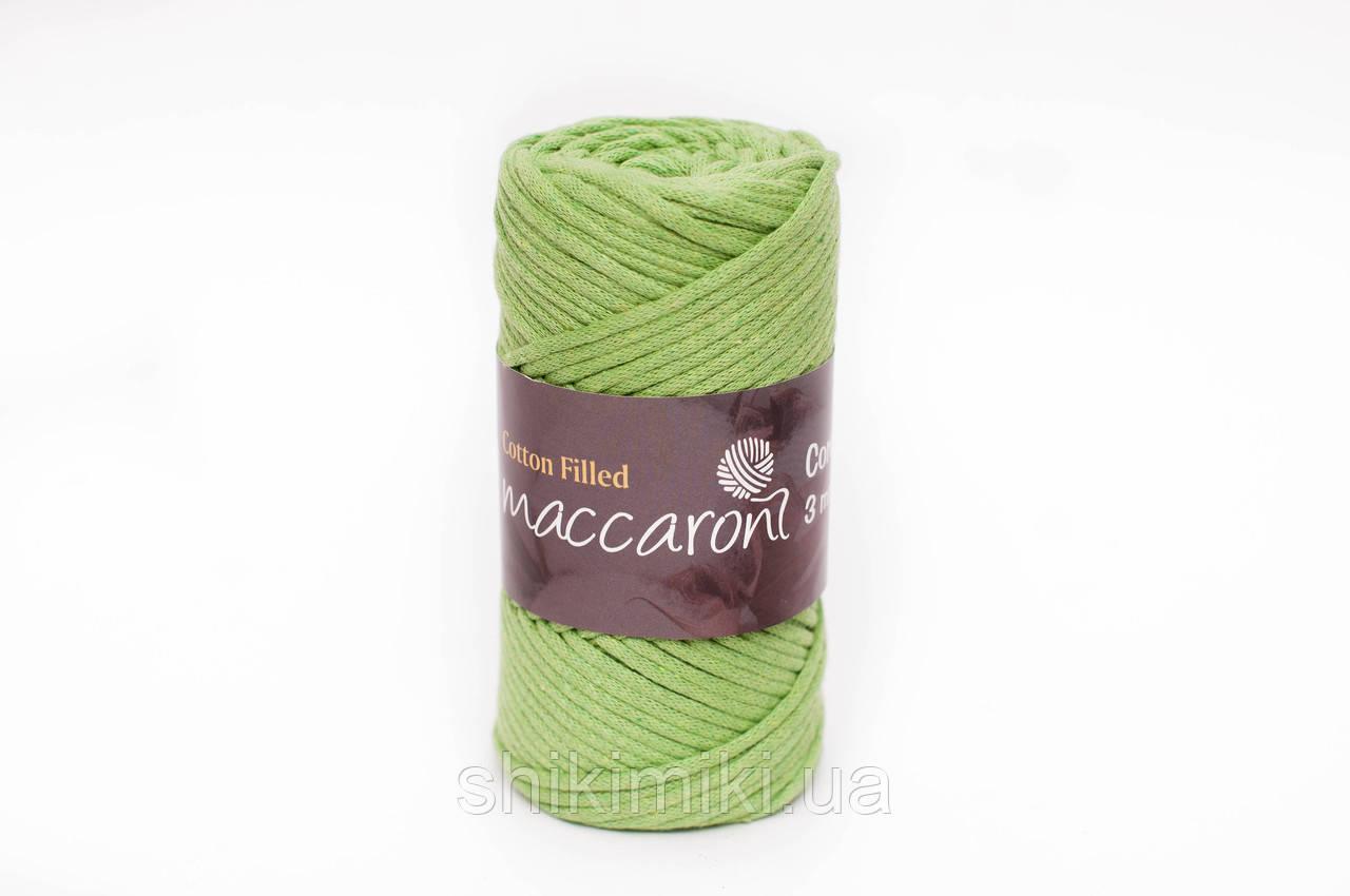 Трикотажный хлопковый шнур 3 мм,цвет зеленое яблоко