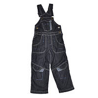 Полукомбинезон 1326 джинсовый утепленный