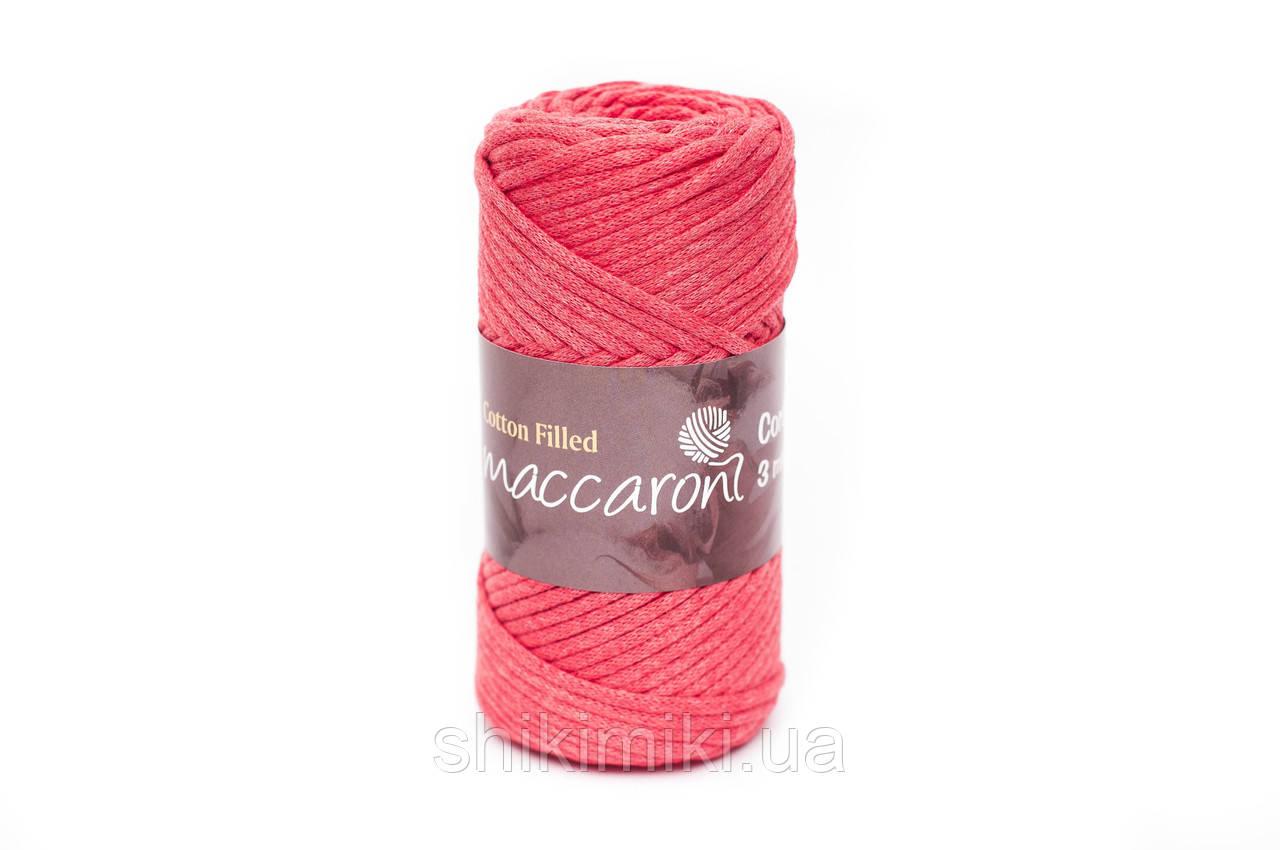 Трикотажный хлопковый шнур Cotton Filled 3 мм, цвет Цикламен