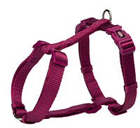 Шлея Trixie Premium H-Harness для собак нейлоновая, 42–60 см/ 15 мм. ярко-розовая
