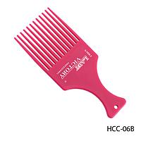Расческа-гребень пластиковая HCC-06B с длинными зубьями, для вьющихся волос, размер: 17х7 см 15774
