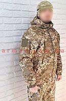 Куртка камуфлированная. Оригинальная ткань softshell (ветровлагозащитная)