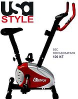 Домашний велотренажер USA Style SS-RW-28.4,Домашнее,Магнитная,Тип Вертикальный , 18, 12, BA100, Домашнее, 100, 1 - 10