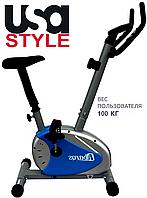 Домашний велотренажер USA Style SS-RW-28.6,Магнитная,7,Тип Вертикальный , 100, 6, BA100, 1 - 10, 1 - 9, Встроенный