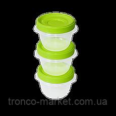 Набор контейнеров Омега 0,285 л  для пищевых продуктов - 3шт, фото 3