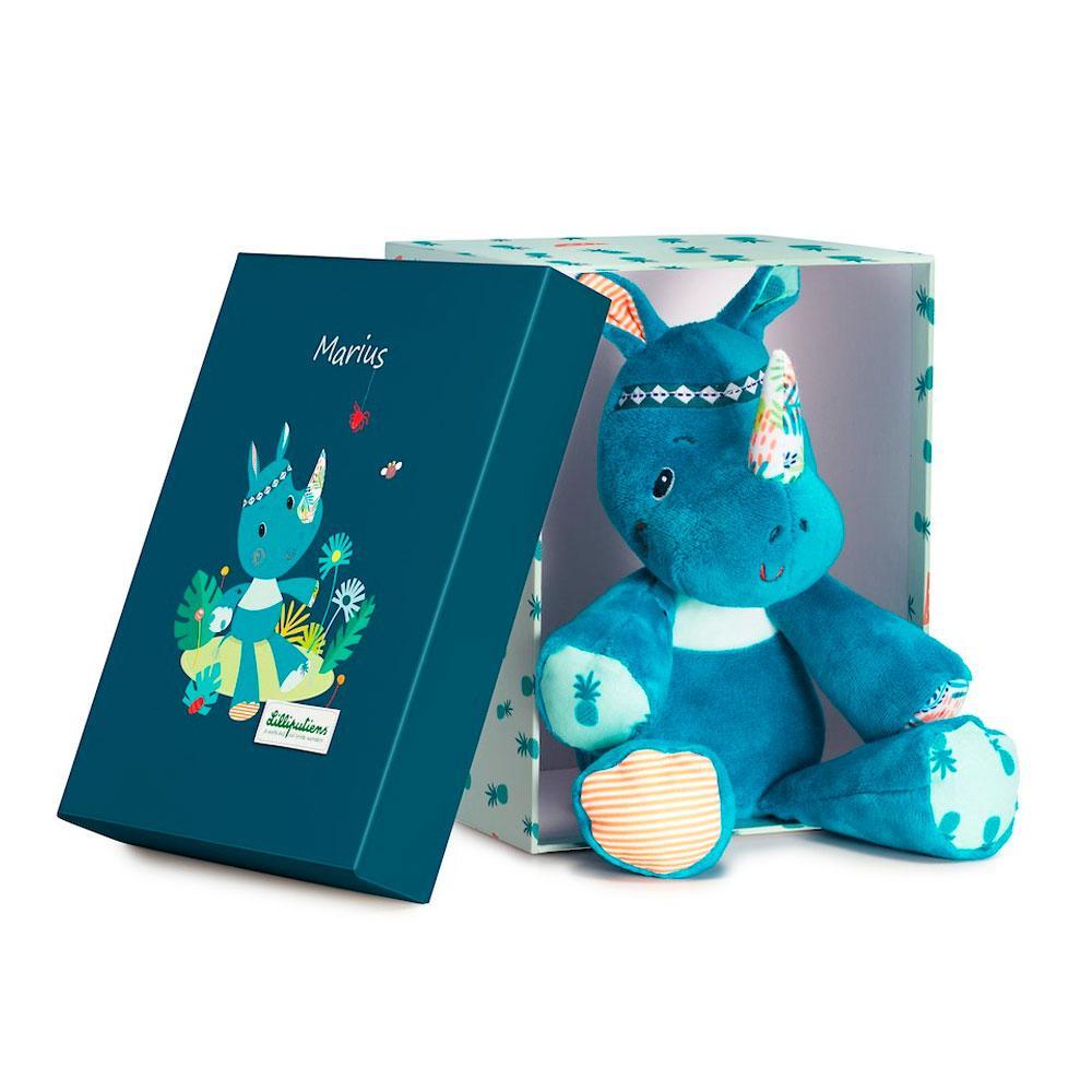 Lilliputiens - Мягкая игрушка носорог Мариус