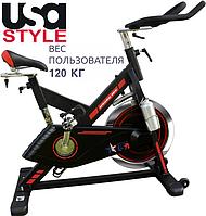 Велотренажер пром SS-921,Электромагнитная,13,Вес 34 кг, 12, Домашнее, BA100, 120, 11 - 25, 1 - 9