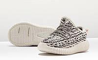 Детские кроссовки Adidas  Yeezy Boost 350 серые  (Реплика)
