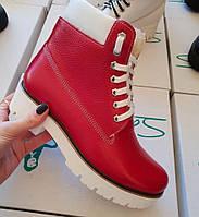 Ботинки женские красные в Украине. Сравнить цены b6ad3c4804a9d