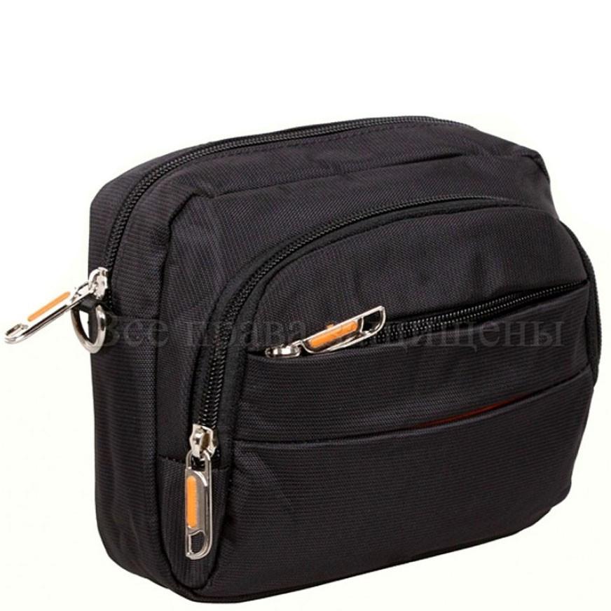 6e3d905a87a7 Мужская тканевая сумка на пояс и через плечо NAVI 6338-1BLECK - Arion-store