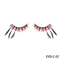 Ресницы декоративные накладные Lady Victory EYD-C-07 с натуральными перьями#S/V