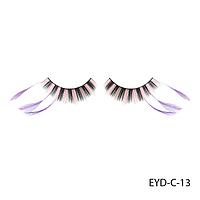 Ресницы декоративные накладные Lady Victory EYD-C-13 с натуральными перьями#S/V