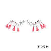 Ресницы декоративные накладные Lady Victory EYD-C-14 с натуральными перьями#S/V