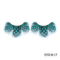 Ресницы декоративные накладные Lady Victory EYD-N-17 из натуральных перьев#S/V