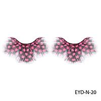 Ресницы декоративные накладные Lady Victory EYD-N-20 из натуральных перьев#S/V