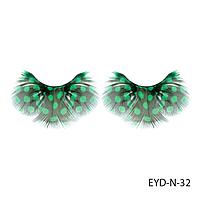 Ресницы декоративные накладные Lady Victory EYD-N-32 из натуральных перьев#S/V