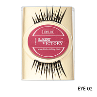 Ресницы декоративные накладные Lady Victory на половину века EYE-02#S/V