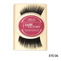 Ресницы декоративные накладные Lady Victory на половину века EYE-06#S/V