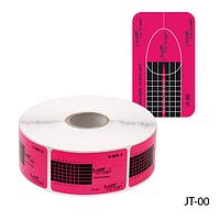Форма для наращивания ногтей JT-00 одноразовая, бумажная на клейкой основе, прямоугольной формы (500 шт)#S/V