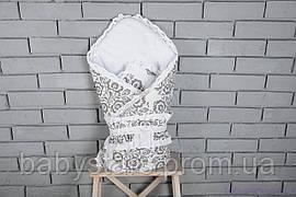 Летний конверт на выписку одеялом «Нежность»